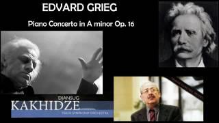 Edvard Grieg: Piano concerto in A minor, Op.16, Nodar Gabunia (piano)