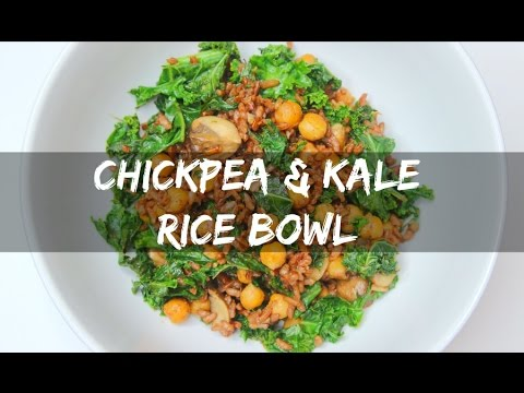 VEGAN & HEALTHY | Roasted Chickpea & Kale Rice Bowl | EASY