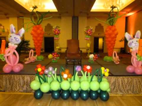 Easter balloon event decor dreamark events www for Balloon decoration ideas youtube
