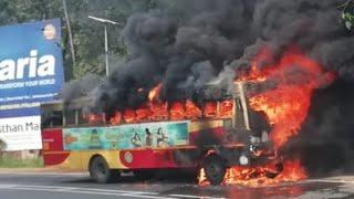 KSRTC bus fire Muvaattupuzha