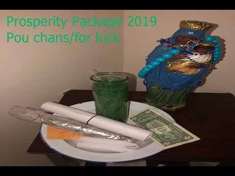 Prosperity package for 2019/job and money.