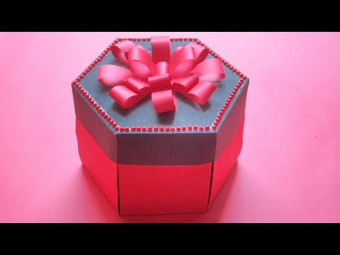 Hexagonal explosion box RED BLACK   Birthday /anniversary / special occasion gifting ideas