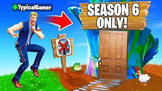 I Went UNDERCOVER in a SEASON 6 ONLY Tournament! (Fortnite)