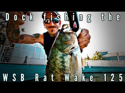 Dock Fishing W/ The Wooden Swimbaits Rat Wake 125