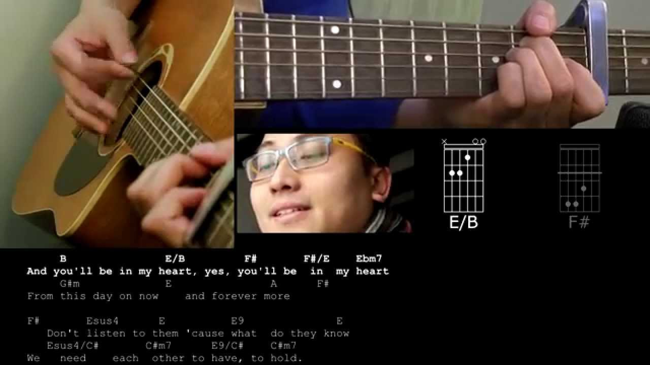 Youll be in my heart cover by daniel heng with chords youtube hexwebz Image collections