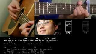 You'll be in my heart cover by daniel heng with chords