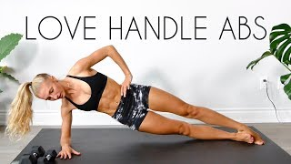 LOVE HANDLES/MUFFIN TOP AB WORKOUT (15 min At Home Routine)