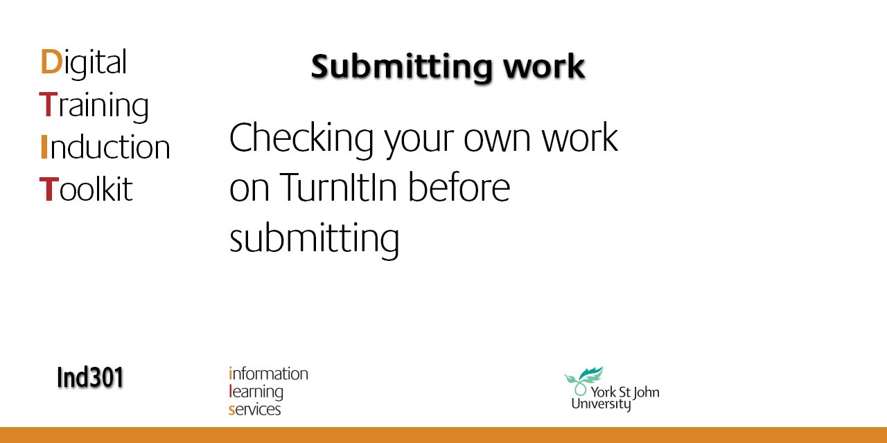 ind checking your own work on turnitin before submitting ind301 checking your own work on turnitin before submitting