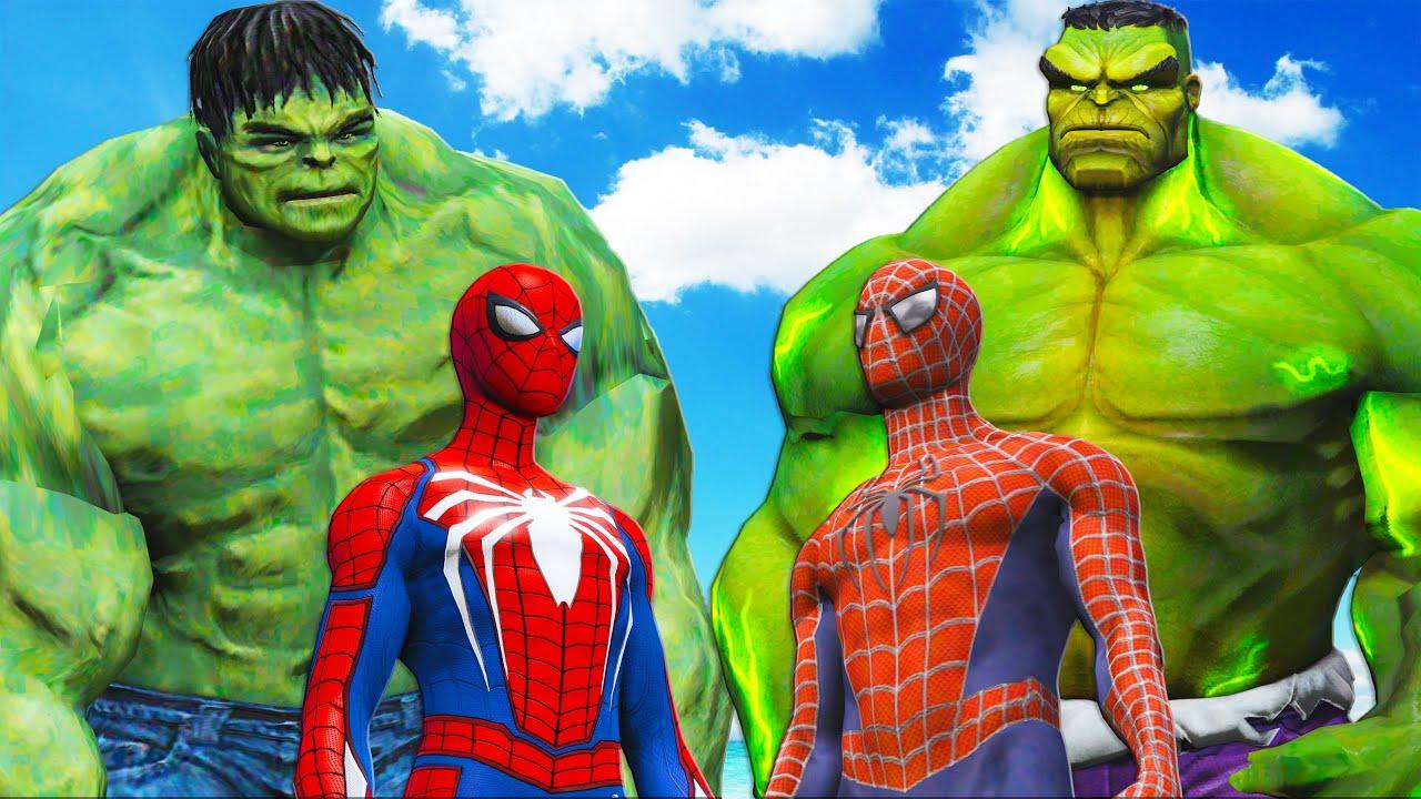 THE IMMORTAL HULK VS SPIDER-MAN PS4 & THE INCREDIBLE HULK VS SPIDERMAN 2002
