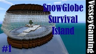 SnowGlobe Survival Island: Minecraft #1 - No Time To Lose!