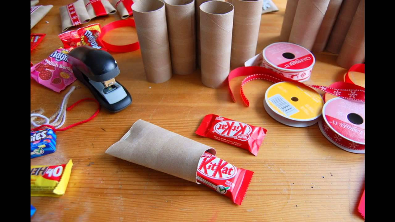 Toilet paper tube crafts youtube for Tissue tube crafts