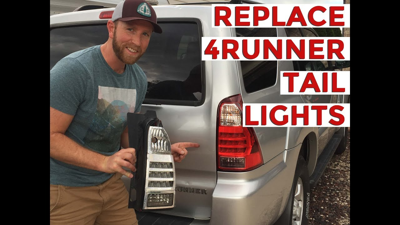 hight resolution of how to replace install toyota 4runner tail light