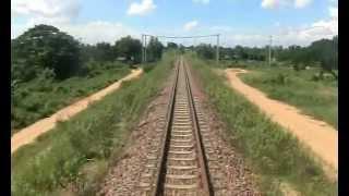 タイ ~ラオス 国境鉄道 (友好橋を渡る)