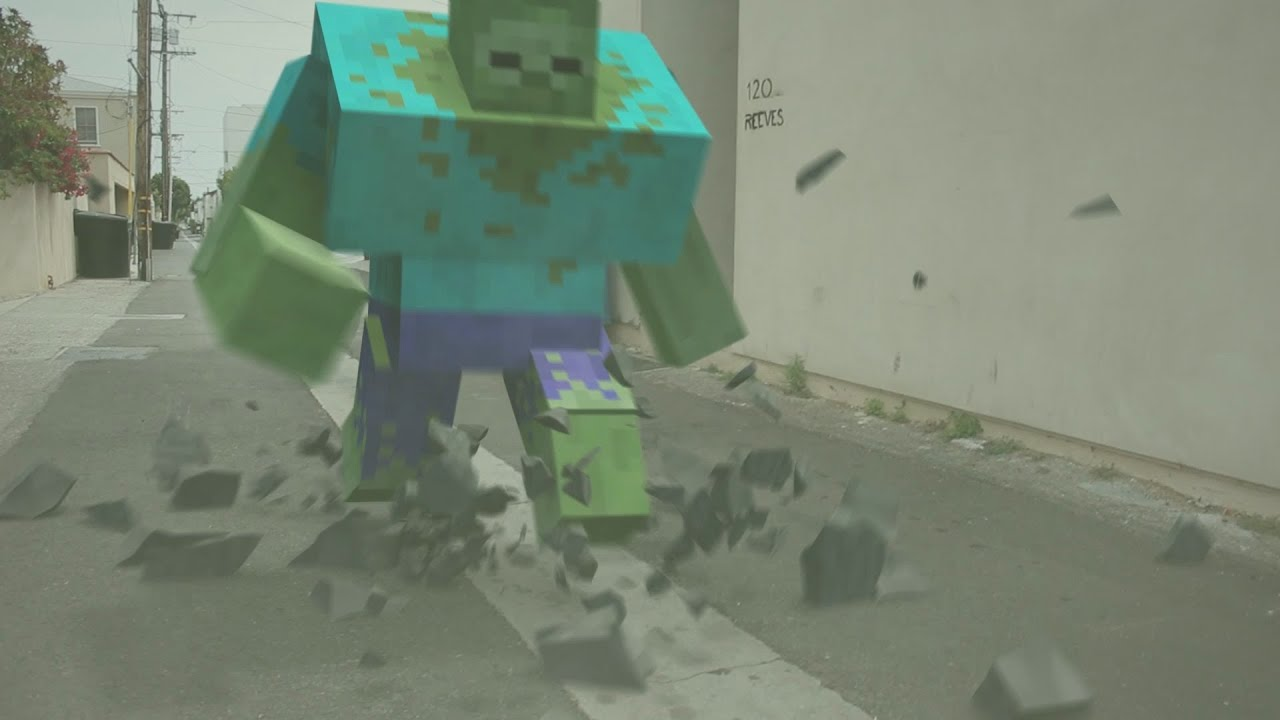 Minecraft Mutant Zombie in Real Life - YouTube