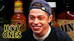 Pete Davidson Drips With Sweat While Eating Spicy Wings | Hot Ones