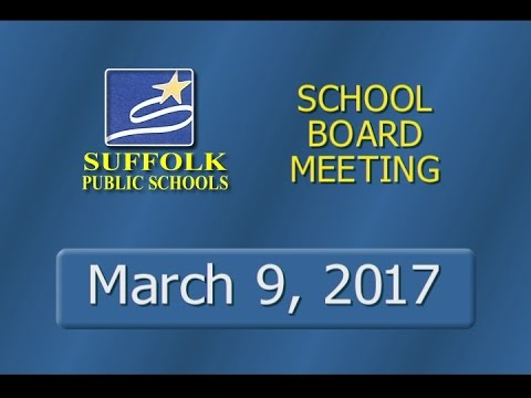 March 9, 2017 School Board Meeting