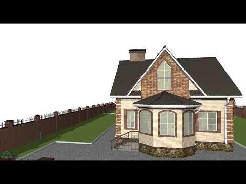 Проект уютного одноэтажного коттеджа с мансардой  B-045-ТП