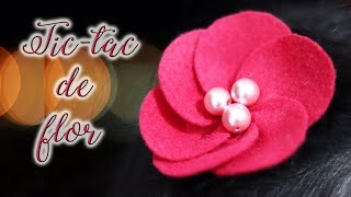 Tic Tac com Flor de Feltro