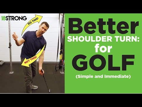#1 Tip for a better shoulder turn in your golf swing (SIMPLE and IMMEDIATE)