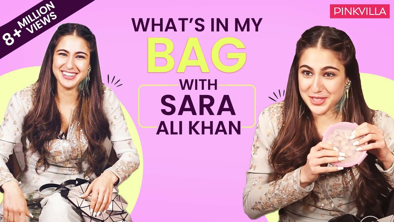 What's in my bag with Sara Ali Khan| Fashion | Love Aaj Kal 2 ...