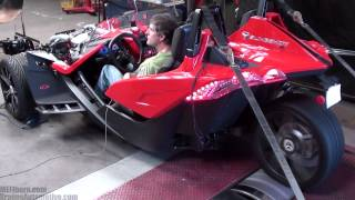 Dyno testing a 2015 Polaris Slingshot with a Hahn Racecraft turbo kit at Braun's