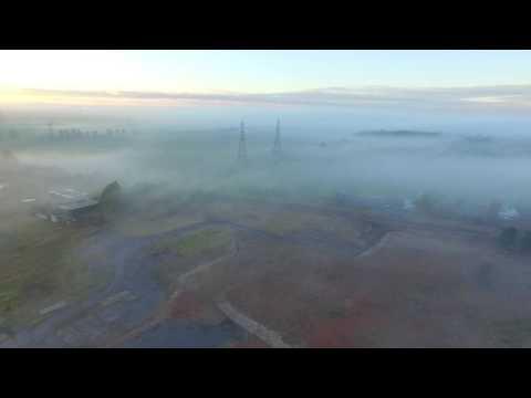 Dji Phantom 3 4k Footage - Hartlepool - Greatham above the mist at sunset