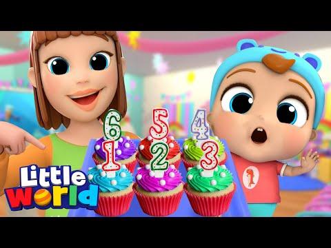 Counting Cupcakes | Numbers Song | Little World Kids Songs \u0026 Nursery Rhymes