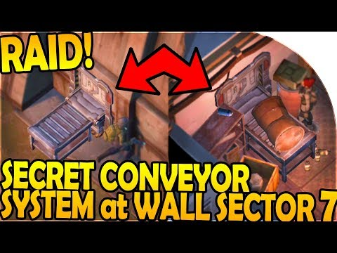 *SECRET* CONVEYOR SYSTEM at WALL SECTOR 7 + RAID! - Last Day On Earth Survival Update 1.8 Gameplay