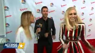 The Voice Coaches Literally Dance Around Gwen and Blake Questions