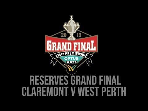 WAFL RESERVES GRAND FINAL [LIVE] Claremont V West Perth