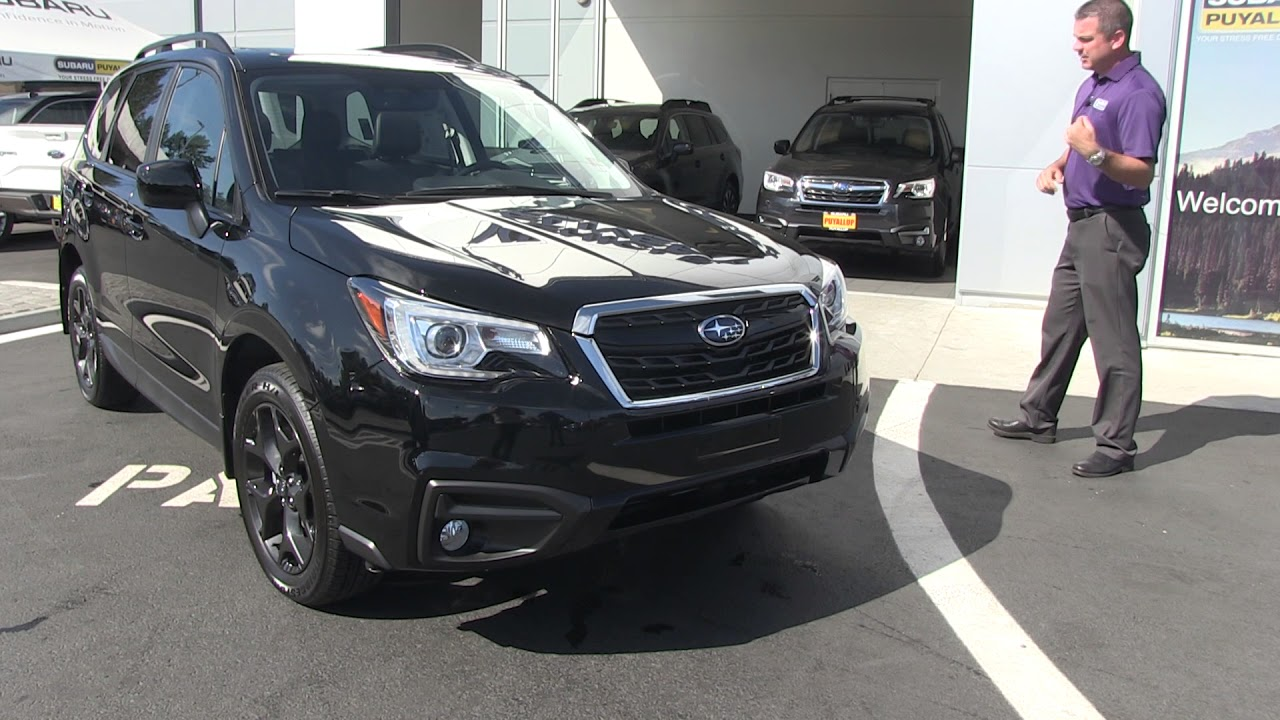 2018 Subaru Forester Review Black Edition Youtube