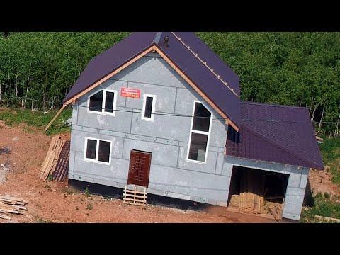 Бюджетный дом 100квм из полистиролбетонных панелей за два дня и 2,7млнр!