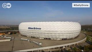 Альянц Арена    родной стадион мюнхенской  Баварии    #DailyDrone