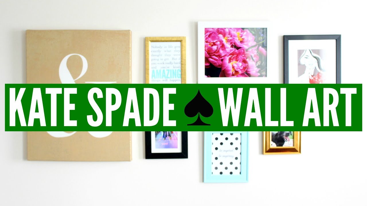 Kate Spade Wall Decor diy kate spade ♤ wall art (collage) | now&jenn - youtube
