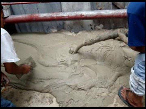 Rbm Foam Concrete Self Leveling Demo Youtube