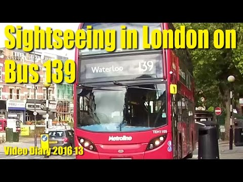 Sightseeing in London from Bus 139 - Video Diary 2016 13