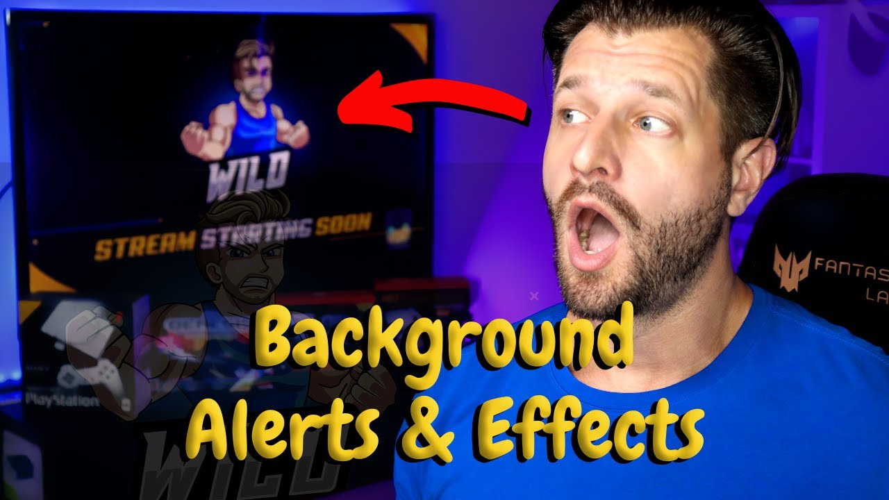 Awesome Background Alerts & Effects Trick For Live Streamers!