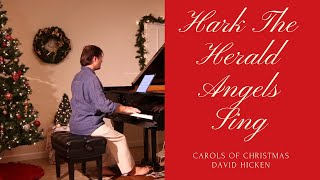HARK! THE HERALD ANGELS SING - PIANO SOLO BY DAVID HICKEN (sheet music for piano)