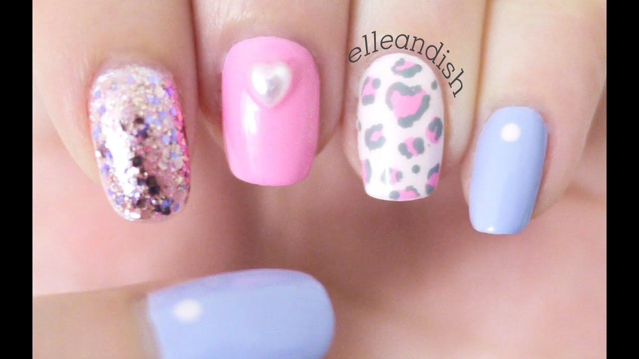 Soft Pink Leopard Nails Giveaway For Valentine S Day Ended You