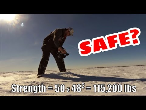 Ice Thickness Safety | Calculating Safe Ice For Ice Fishing Safety | How Thick Should The Ice Be?