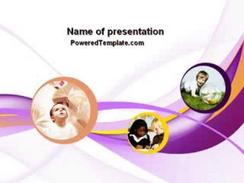 child development in kindergarten powerpoint template by