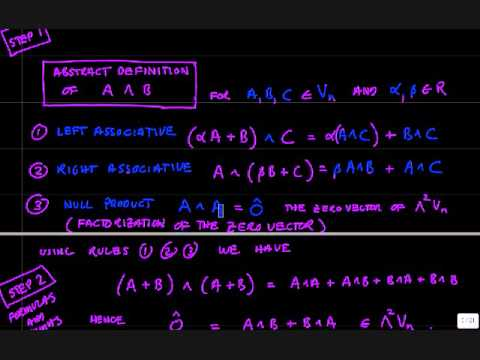 Exterior Algebra Part 1.wmv