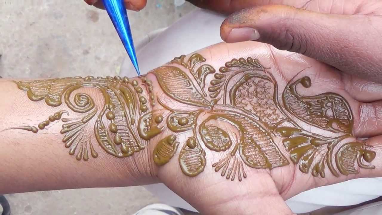 Why Does My Henna Tattoo Look Black: How To Draw Henna MEHENDI Tattoo:Mehndi Design By