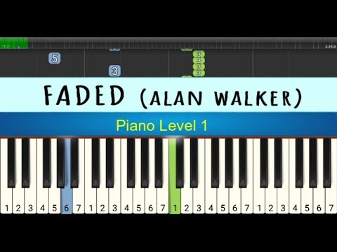 Not Piano Faded Alan Walker Tutorial Piano Level 1 Youtube