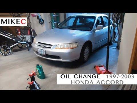 Honda Accord Oil Change | 1997-2003
