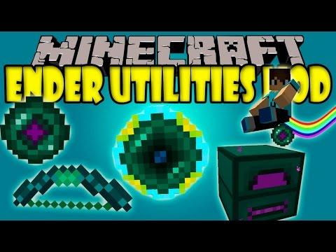 ENDER UTILITIES MOD - Teletransporta mobs, Vuela en EnderPearl y mas- Minecraft 1.7.10 y 1.8 Review