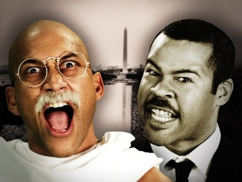 Видео: Gandhi vs Martin Luther King Jr. Epic Rap Battles of History Season 2
