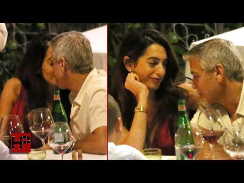 George Clooney And Amal Can't Keep Their Hands Off Each Other