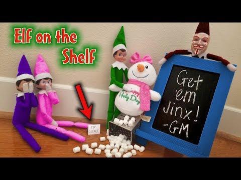 Prankster Elf on the Shelf vs Snowman! TOP SECRET Clue About Evil Elf Game Master!! Day 13