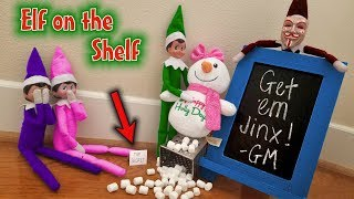 Prankster Elf on the Shelf vs Snowman! TOP SECRET Clue About Evil Elf Game Master!! Day 13